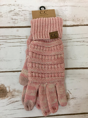 CC Two Tone Pink Gloves