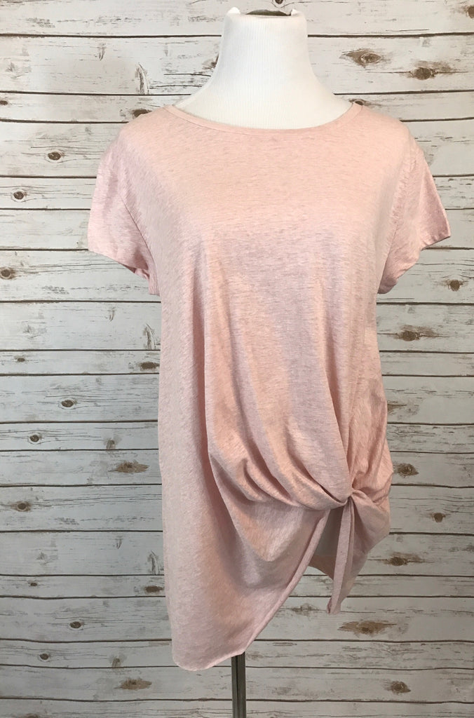Knot your basic tee- Blush