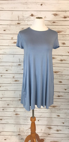Piko Short Sleeve Dress w/ Pockets