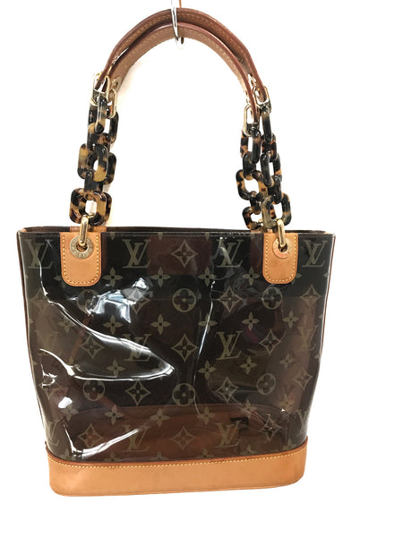 Louis Vuitton Cabas Sac Ambre Clear PM Brown Tote