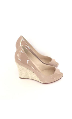 Size 6/6.5 Christian Louboutin Tan Patent Leather