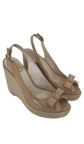 Size 10 Christian Dior Nude Wedges