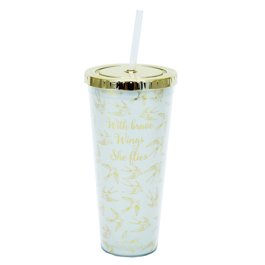 Straw Tumbler With Brave Wings