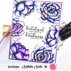 Spring Rose Digital Stamps