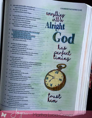 Clear Stamps - In God's Time | Bible Journaling Clear Stamp - Joy Clair - 4