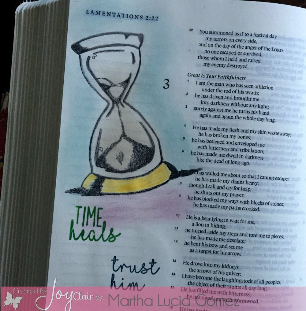 Clear Stamps - In God's Time | Bible Journaling Clear Stamp - Joy Clair - 3