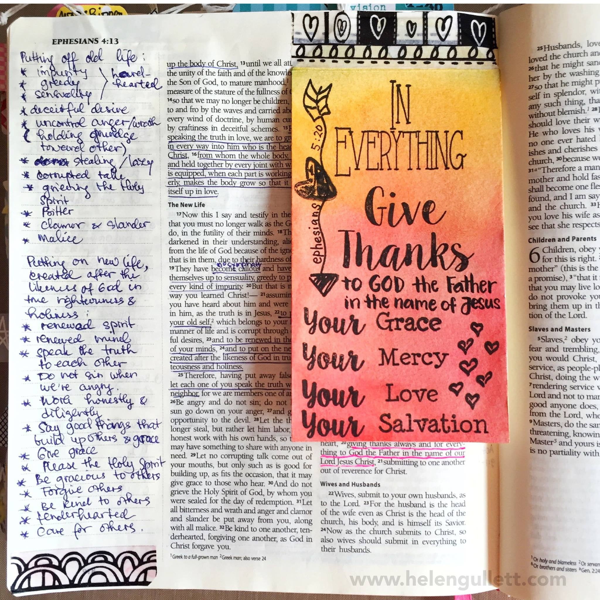 Clear Stamps - Give Thanks |Bible  Journaling  Clear Stamps - Joy Clair - 2
