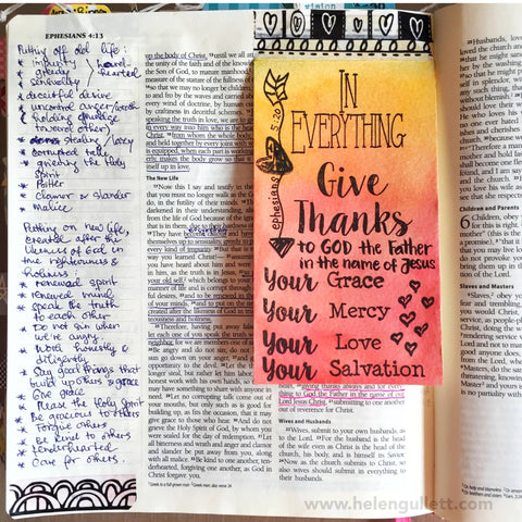 Give Thanks |Bible  Journaling  Clear Stamps