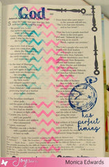 Clear Stamps - In God's Time | Bible Journaling Clear Stamp - Joy Clair - 6