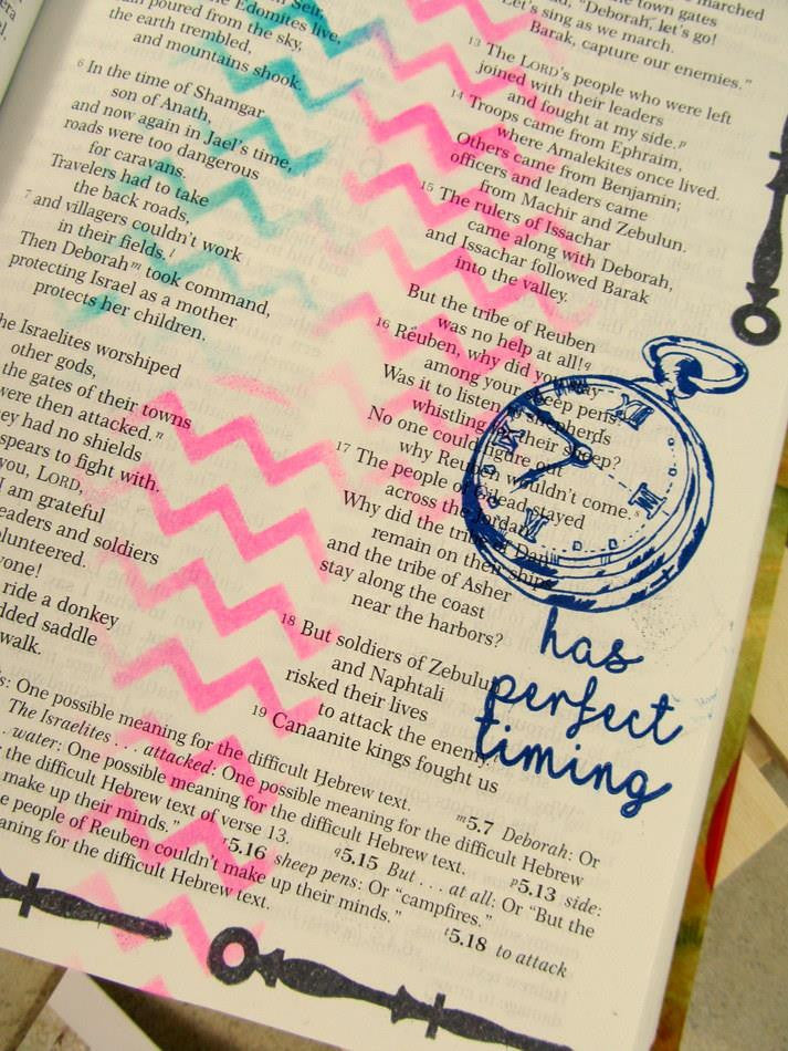 Clear Stamps - In God's Time | Bible Journaling Clear Stamp - Joy Clair - 2
