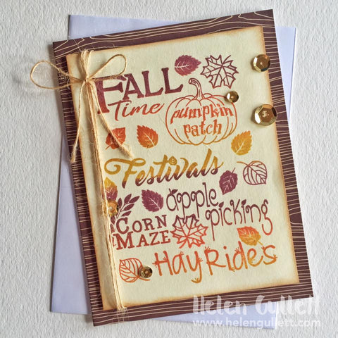 Fall Time Planner Clear Stamps