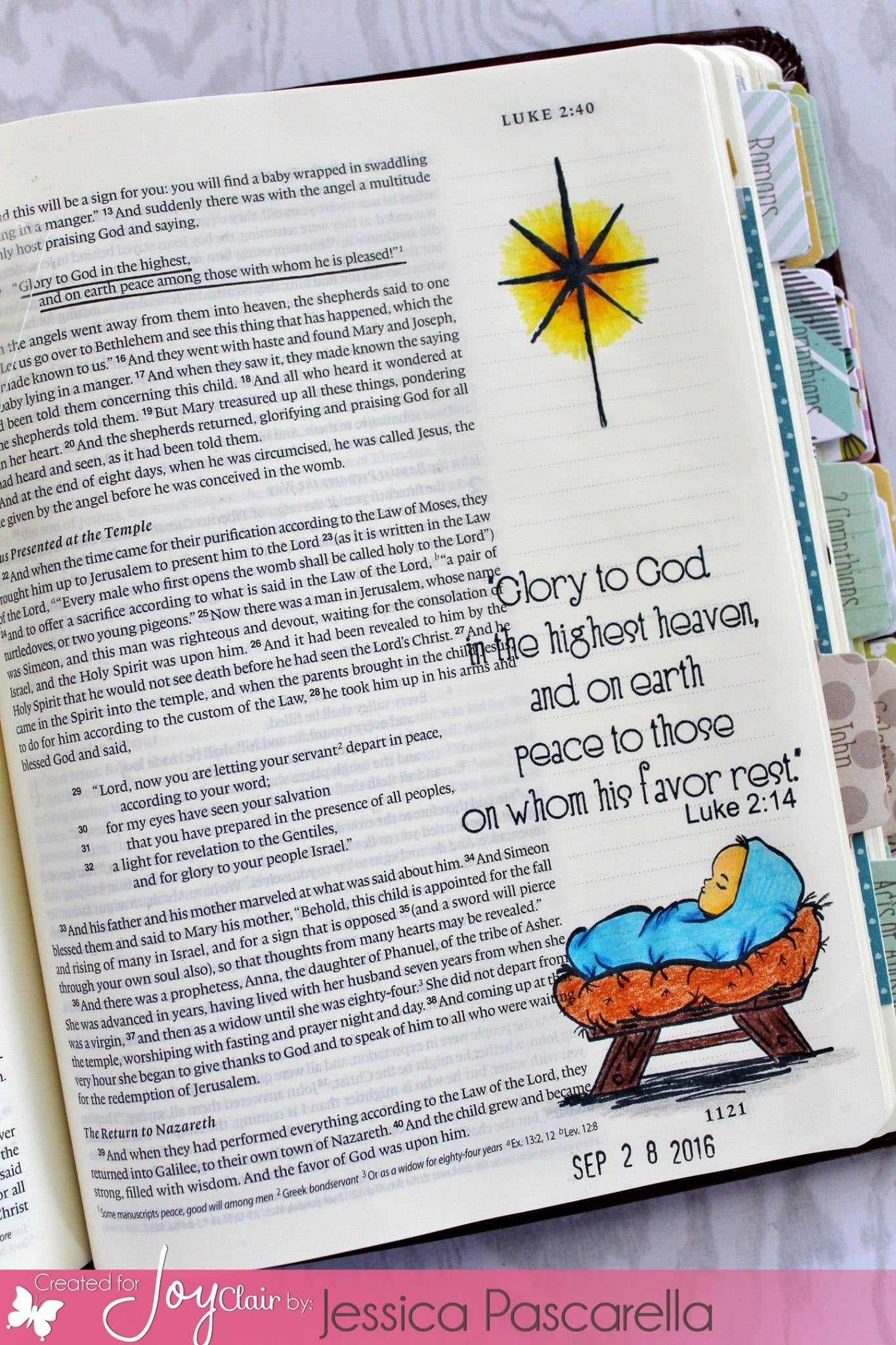 Clear Stamps - Away in a Manger | Bible Journaling Clear Stamps - Joy Clair - 6