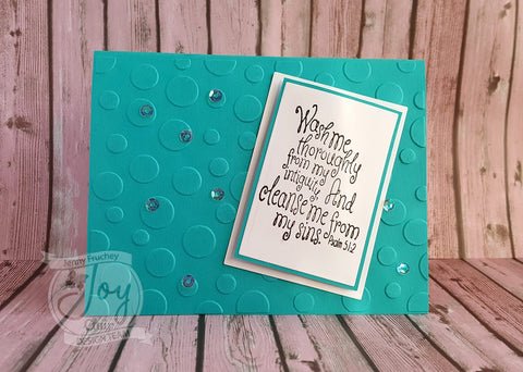 Washed by the Blood  | Bible Journaling Clear Stamp Set