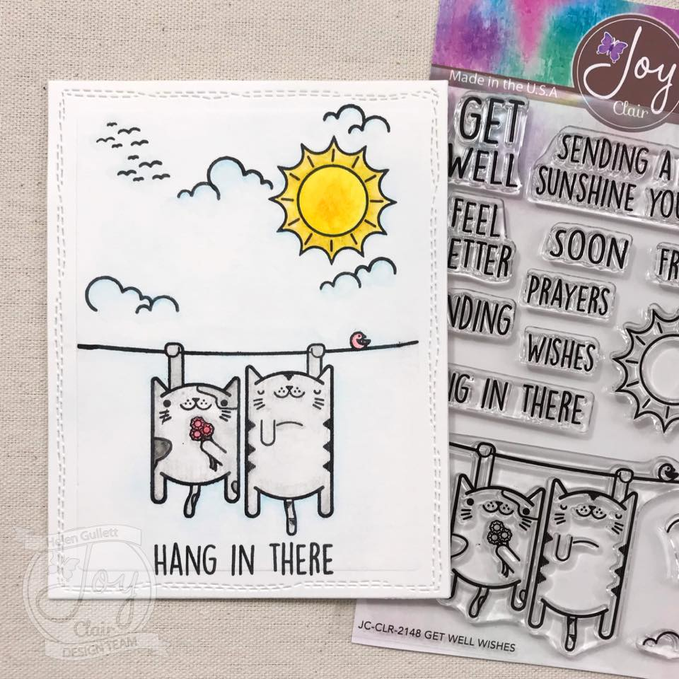 Get Well Wishes | Clear stamp set