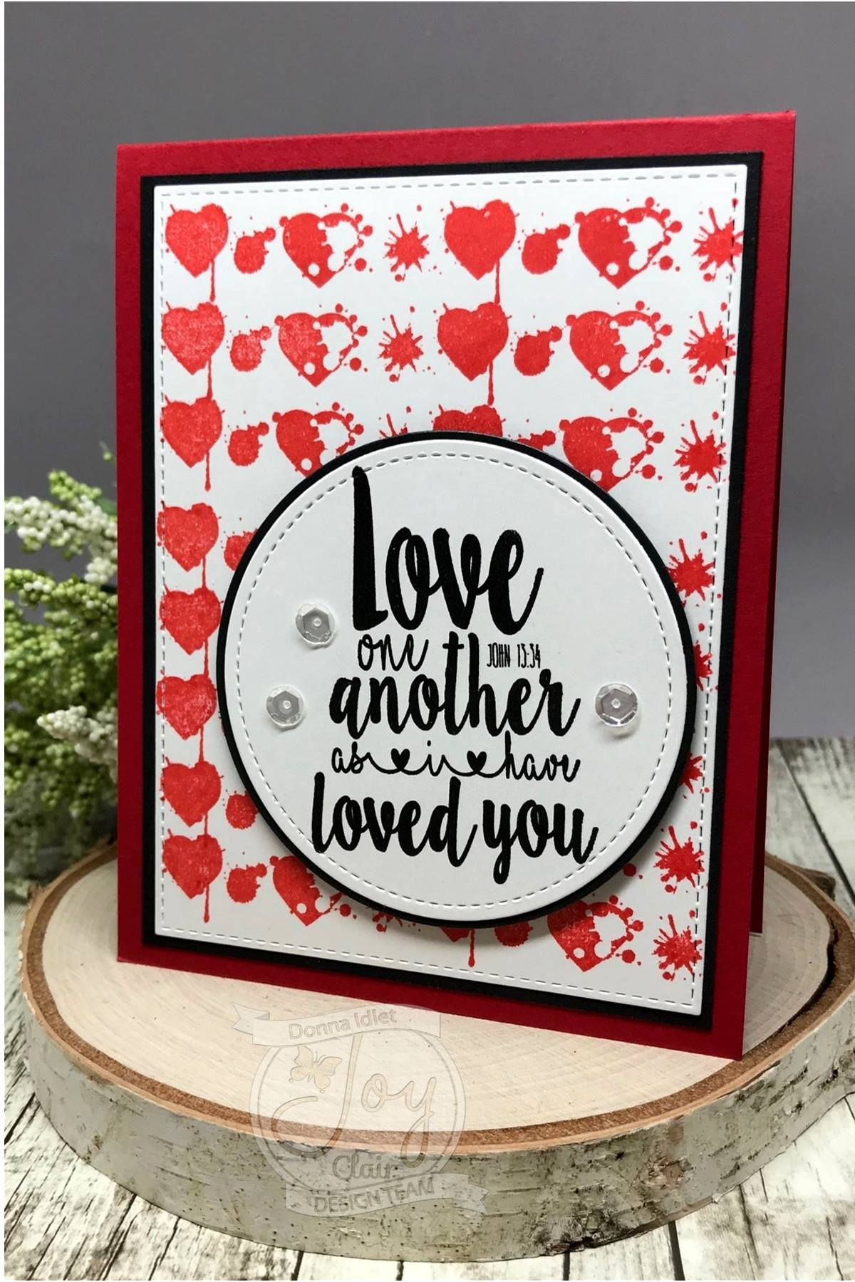 Valentine Background Builder | Clear stamp set