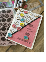 Dancing Donut Background  Clear Stamps
