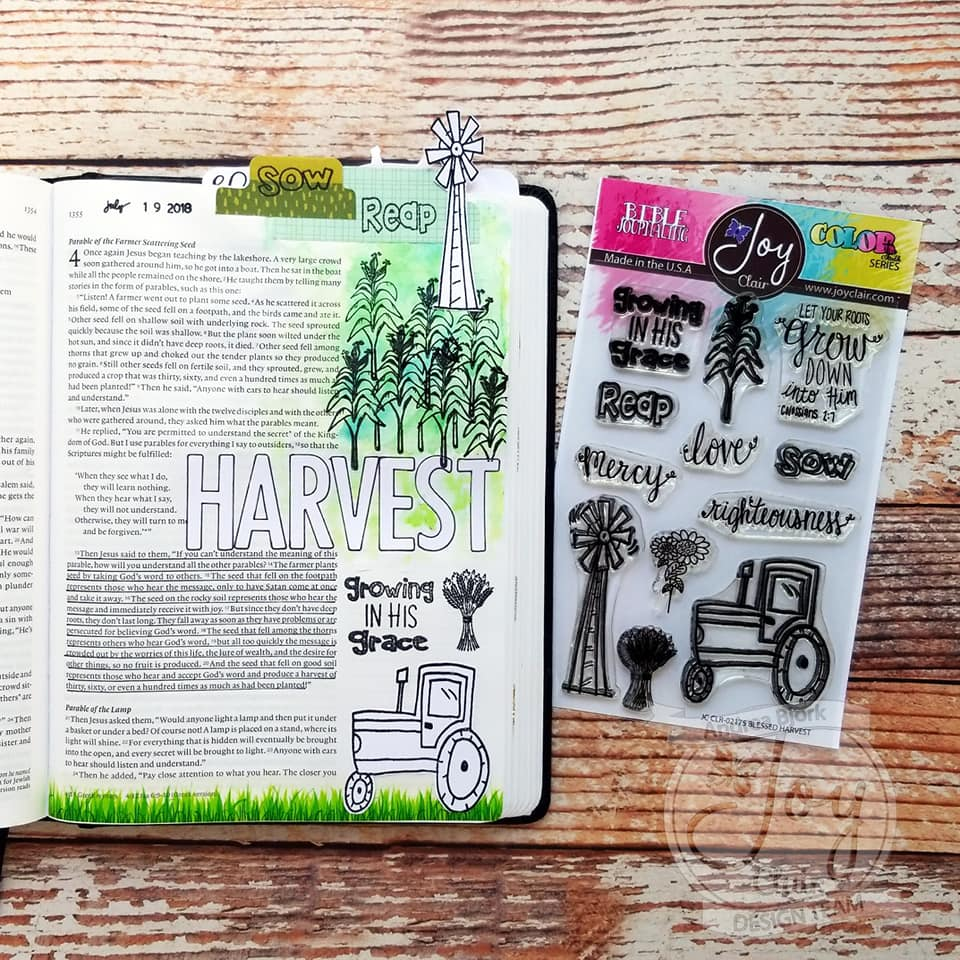 Blessed Harvest  | Bible Journaling Clear Stamp