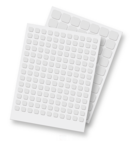 3D Foam Squares White Mix