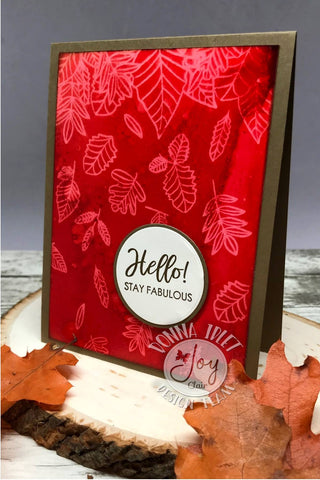 Falling Leaves Background Stamp set