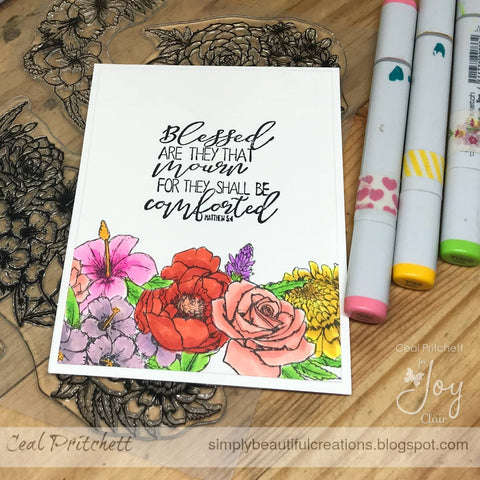 Martha's Flowers  | Clear Stamp Set
