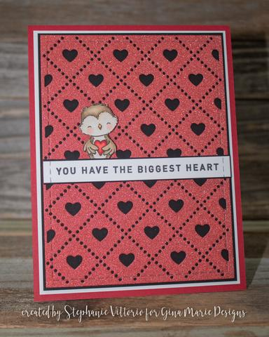 Heart Argyle Cover Plate Die