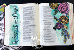Saved By Grace | Bible Journaling stamp set