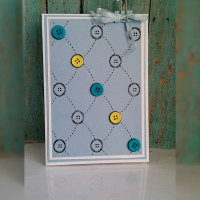 Tufted Buttons Background Clear Stamp
