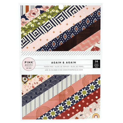 Again and Again Collection 6 x 8 Paper Pad - Pink Paislee