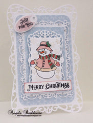Cozy Snowman Wishes Clear Stamps - Joy Clair - 8