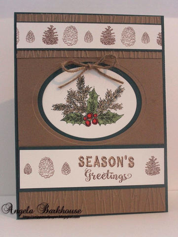 Rustic Christmas Sentiments Clear Stamps