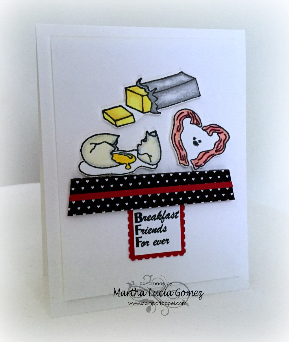 Breakfast Friends Forever Clear Stamps - Joy Clair - 10
