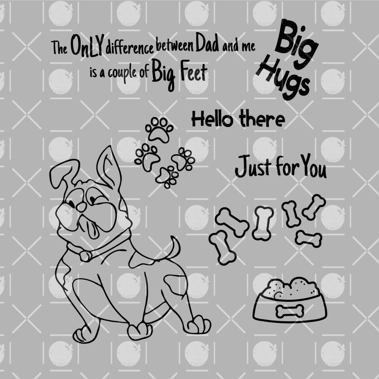 Big Hugs Clear Stamps