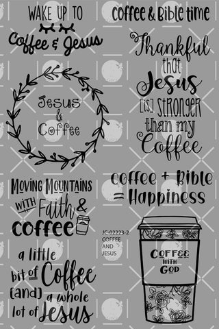 Coffee and Jesus Digital Set