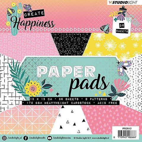 Create Happiness Paper Pad 6 x 6 - Studio Light