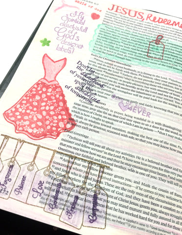 Designer Labels | Bible Journaling Clear Stamps