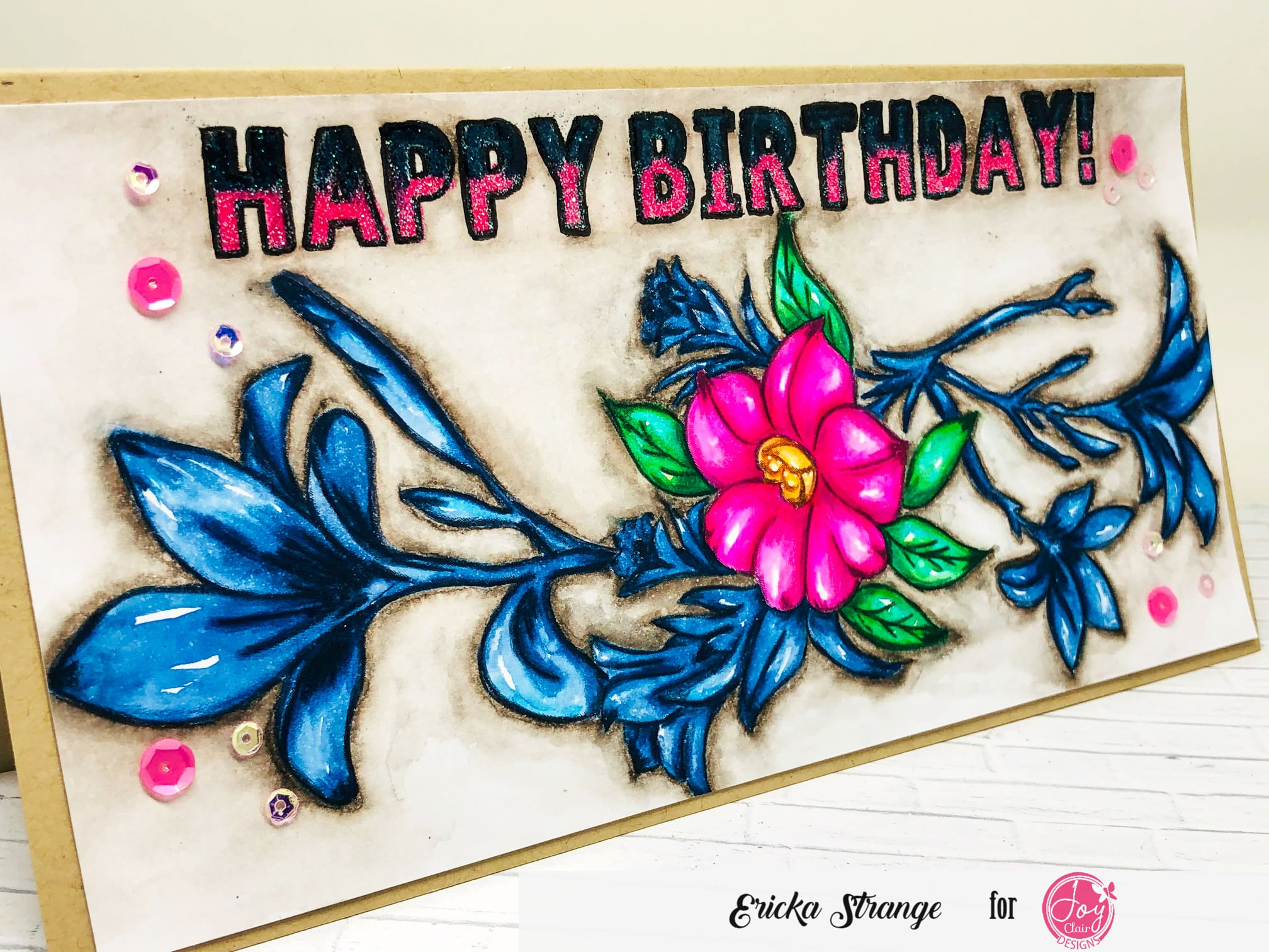 Spring Bouquet Slimline Digital Stamps