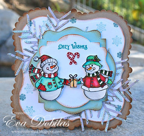 Cozy Snowman Wishes Clear Stamps