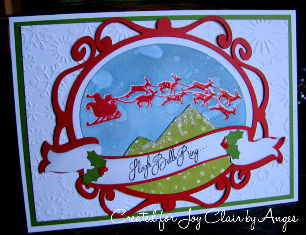 Santa's Coming Clear Stamp Christmas Set - Joy Clair - 6