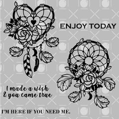 Floral Catcher Digital Stamp
