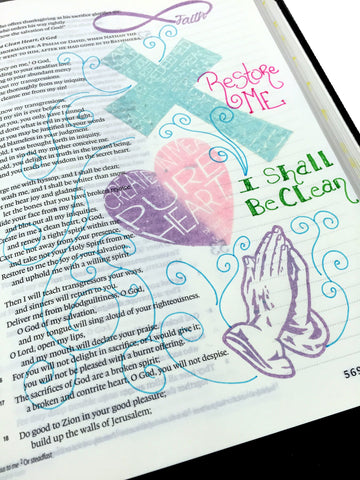 God's Love | Bible Journaling Clear Stamps
