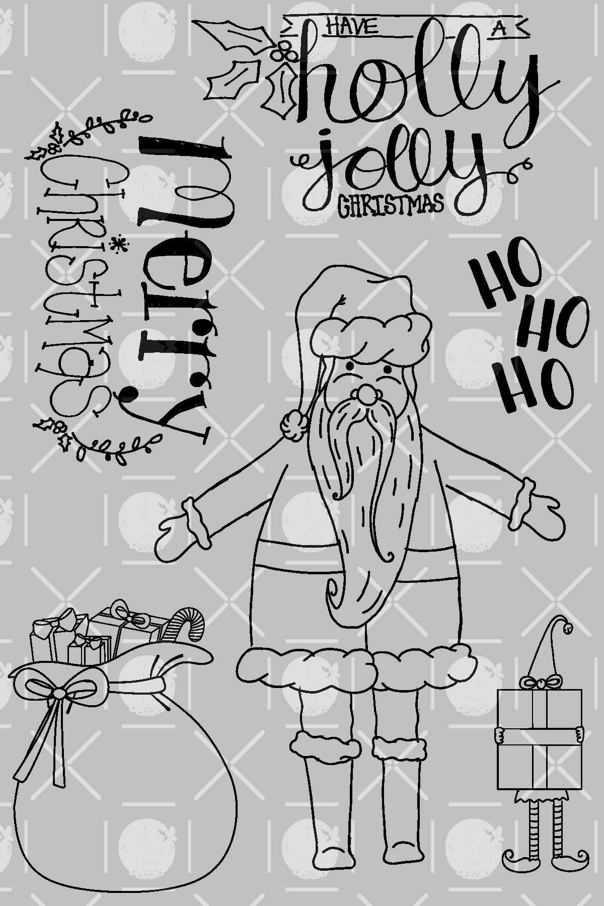 Holly Jolly Santa Digital Set