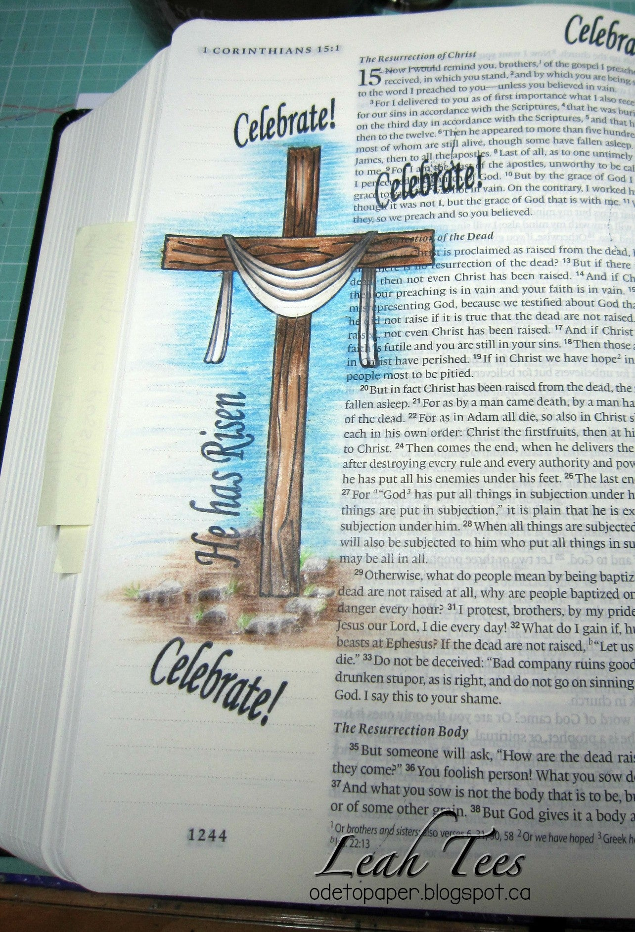 Clear Stamps - He has Risen | Bible Journaling Clear Stamps - Joy Clair - 13