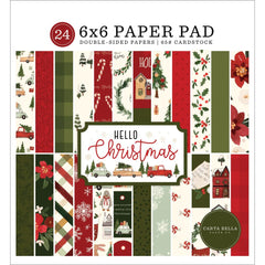 Hello Christmas Paper Pad 6 x 6 - Carta Bella