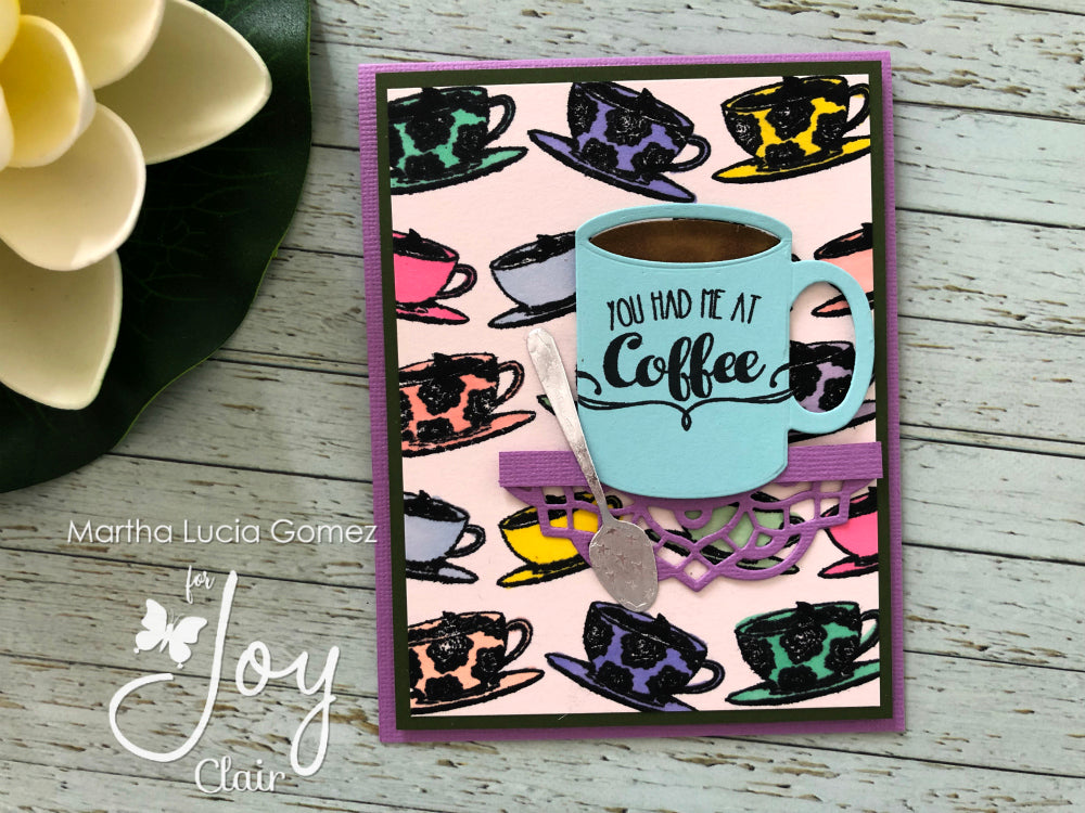 Coffee to Go Background Clear Stamps