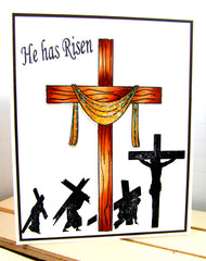 Clear Stamps - He has Risen | Bible Journaling Clear Stamps - Joy Clair - 6
