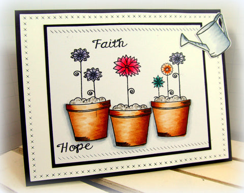 Grow with Faith |  Bible Journaling Clear Stamps