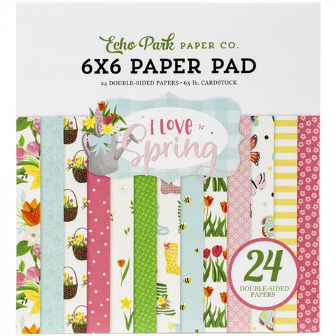I Love Spring Paper Pad 6 x 6 - Echo Park