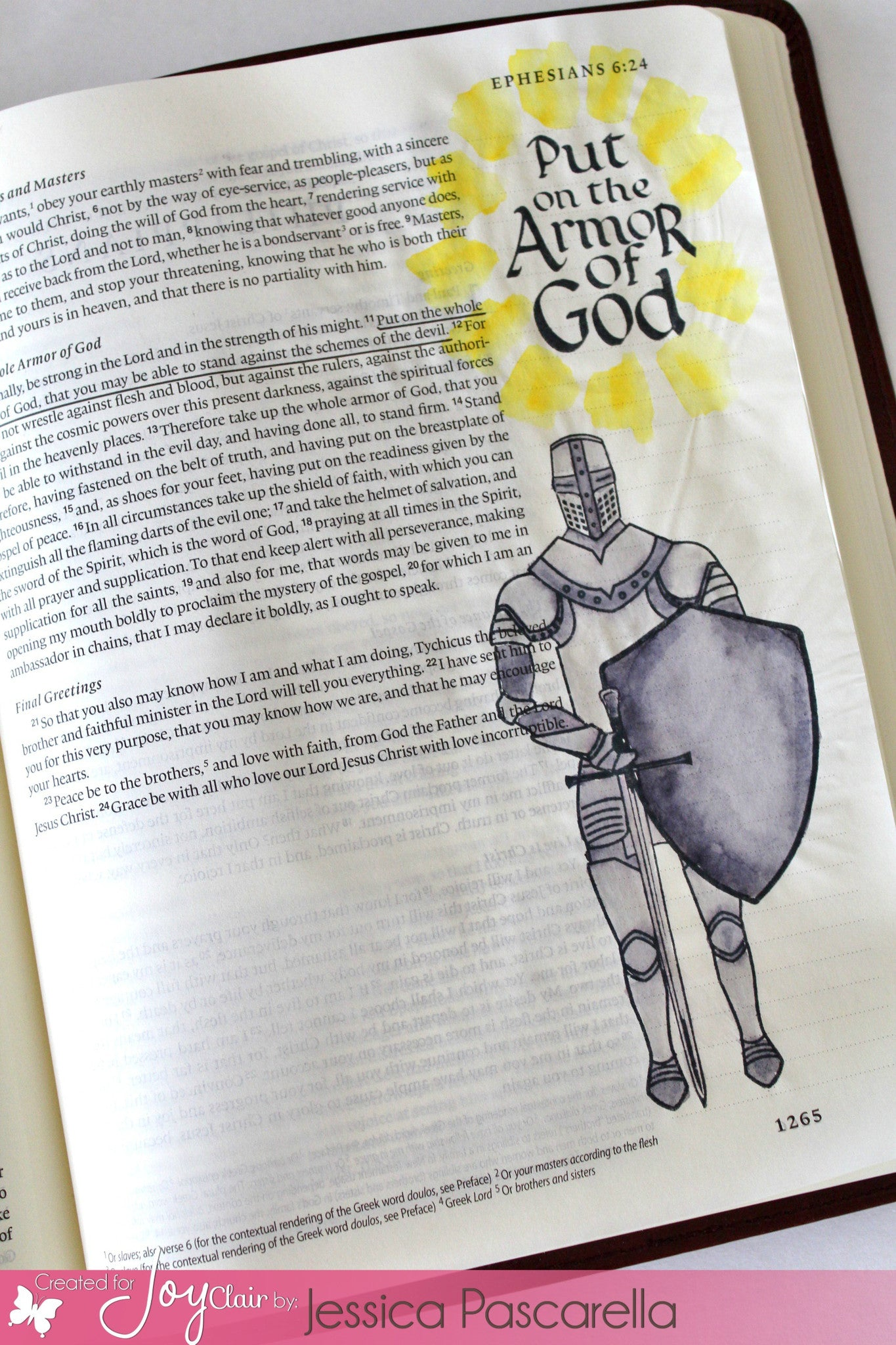 Clear Stamps - Armor of God | Bible Journaling Clear Stamps - Joy Clair - 4
