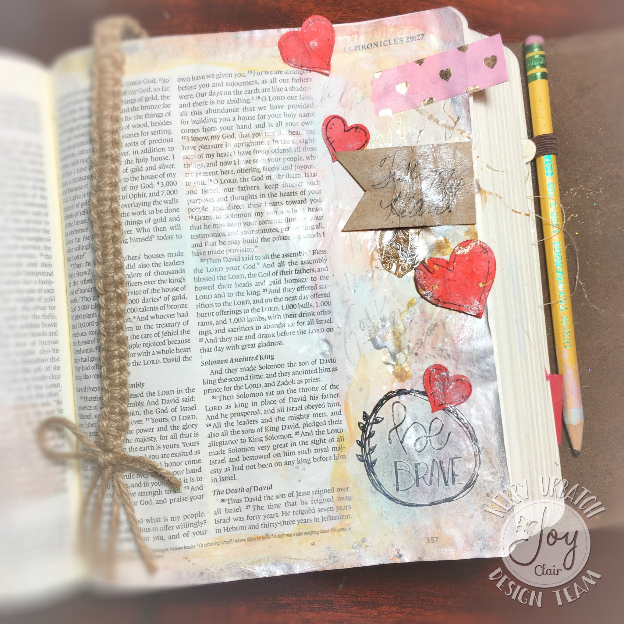 Clear Stamps - Be Brave | Bible Journaling Clear Stamps - Joy Clair - 4