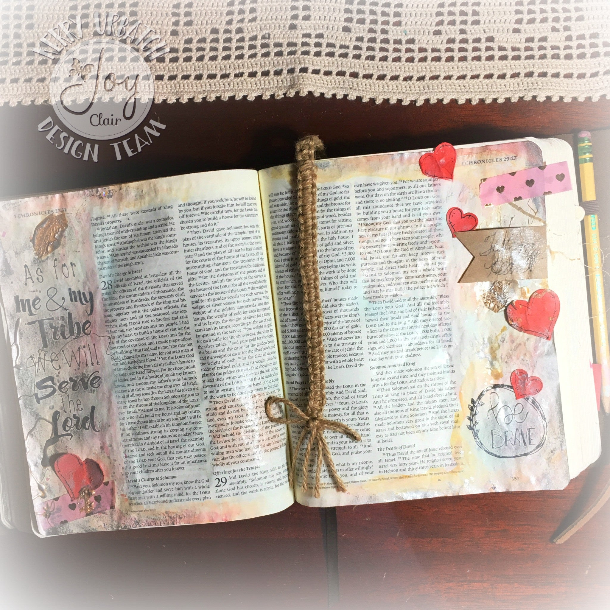 Clear Stamps - Be Brave | Bible Journaling Clear Stamps - Joy Clair - 3